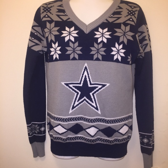 save off 51360 50396 Dallas Cowboys Christmas Sweater Size M